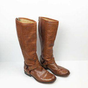 Frye Phillip Harness Tall Riding Boot size SZ 7 B